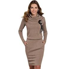 Buy Women S Bodycon Dress Long Sleeve Turtle Neck S*xy Dress Intl
