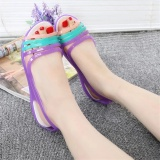 Best Deal Women S Crystal Jelly Shoes Leisure Beach Sandals Students Shoes Purple Intl