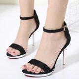 Women S Stiletto Ankle Strap Heels London Party Sandals Black Review