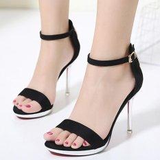 Cheapest Women S Stiletto Ankle Strap Heels London Party Sandals Black Online