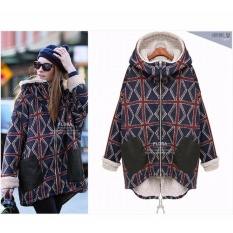 Deals For Women S Brand Fashionable Warm Winter Loose Cotton Padded Jacket Coat Ladies Korean Thick Lamb Plush Jacket Overcoat Plus Size M 5Xl Intl