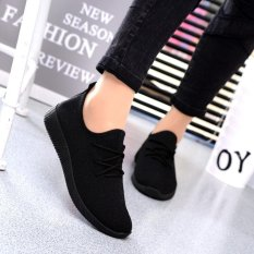 Who Sells Womens Casual Sport Shoes Athletic Sneakers Running Breathable Mesh Walking Flat Black Intl Intl Cheap