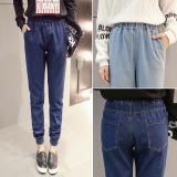 Discount Women S Cotton Denim Elastic Waist Jeans G*Rl S Harem Pant Ankle Length Loose Trouser Intl Oem