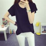 Low Price Women S Fashion V Neck T Shirt Black
