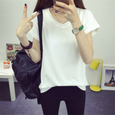 For Sale Women S Fashion V Neck T Shirt White
