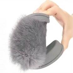 Buy Womens Flat Non Slip Soft Fluffy Faux Fur Flat Slipper Flip Flop Sandal Intl