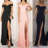 Buy Women S Formal Long Ball Gown Party Prom Cocktail Bridesmaid Evening Maxi Dress Intl Color Black Imixlot Original