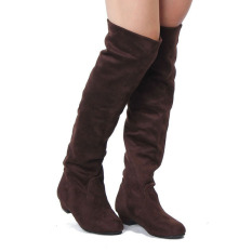 Womens High Heels Suede Boots Thigh High Slouch Over The Knee Pull On Stilettos Export Intl Shopping