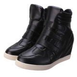 Womens High Top Hidden Wedge Sneakers Lace Up Casual Shoes Velcro Ankle Boots Export Price