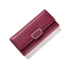 Buy Womens Lady Pu Long Slim Wallet Flap Buckles Purse Clutch Card Holder Bag Red Intl Oem