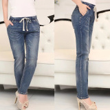 Cheaper Women S Large Plus Size Korean Loose Jeans Denim Pants Intl