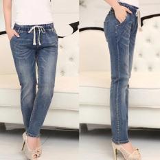 Price Comparisons Women S Large Plus Size Korean Loose Jeans Denim Pants Intl