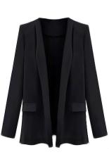 Womens Long Sleeve Blazer Suit Jacket Black Xl By Vococal Shop.