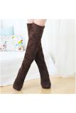 Women S Over The Knee High Heels Boot Shoes Black Brown Brown Intl Coupon Code