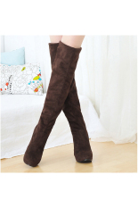 Price Comparisons Women S Over The Knee High Heels Boot Shoes Black Brown Brown Intl