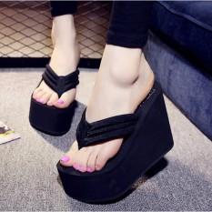 Discount Women S S*xy High Heels Flip Flops Slippers Wedge Platform Antiskid Beach Shoes China