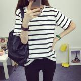 Buy Women S Short Stripe Cotton T Shirt White Telent Cheap