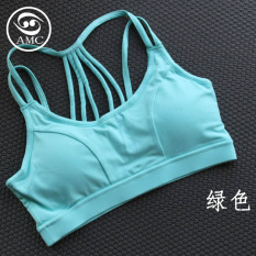 Cheap Sports S*Xy Women S Thin Shoulder Strap Sports Bra Green Green Online
