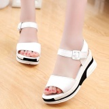 Buy Women S Summer Sandals Shoes Peep Toe Low Shoes Roman Sandals Ladies Flip Flops Intl Cheap China