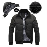 Wonderful Power New Fashion Men Black Puffer Jacket Warm Overcoat Autumn Winter Coat Parka Outwear Cotton Padded Hooded Down Coat Black M Intl Best Buy