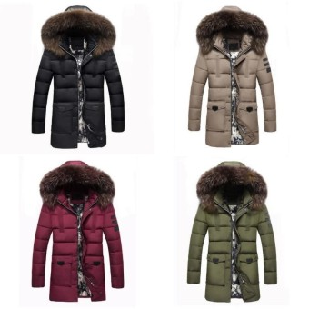 Wonderful Power Newest Hot Products Men Parka Removable Fur Collar Outwear Casual Coat Cotton Padded Hooded Down Jacket Winter Warm Red IntᆪᄎXxxl Intl Shop