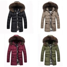 Wonderful Power Newest Hot Products Men Parka Removable Fur Collar Outwear Casual Coat Cotton Padded Hooded Down Jacket Winter Warm Red IntᆪᄎXxxl Intl Cheap