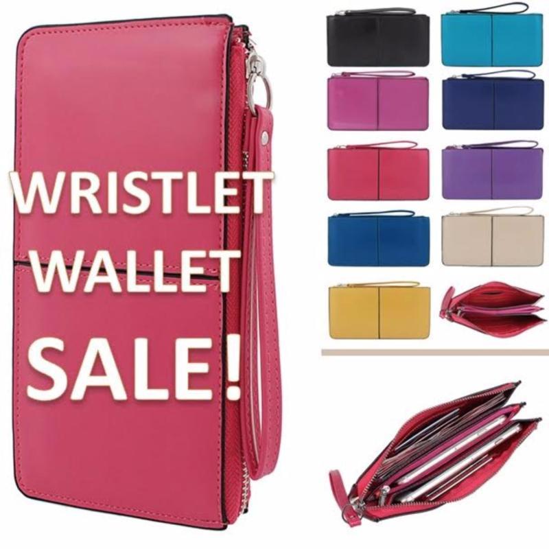 Wristlet Sapphire Hand Bag With Zip