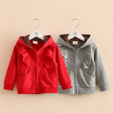 Discount Wt 1210 Children S Long Sleeved Hooded Jacket Purplish Red Color Spring And Autumn Shell Family