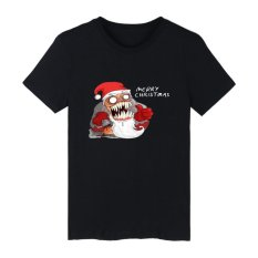 Lowest Price Wuxinsu Evil Santa Claus Christmas Short Sleeve T Shirts With Cartoon Men Tshirt Famous And T Shirt Men Tee Shirts 001 Black Intl