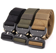 Buy Wzjp Outdoor Nylon Tactical Belt Outside The Belt Mud Color China