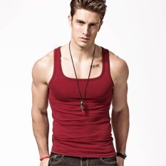 Sale Xdian Men S Tank Top Square Neck Sports Russet Color Intl Online On China