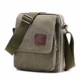 How To Buy Xin Bo Men Vintage Canvas Multifunction Satchel Messenger Shoulder Bag Army Green