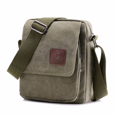 Review Xin Bo Men Vintage Canvas Multifunction Satchel Messenger Shoulder Bag Army Green China