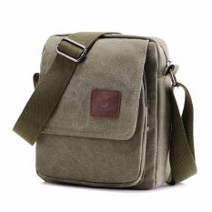 Xin Bo Men Vintage Canvas Multifunction Satchel Messenger Shoulder Bag Army Green Shopping