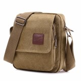 Buy Xin Bo Men Vintage Canvas Multifunction Travel Satchel Messenger Shoulder Bag Yellow Cheap China
