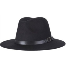 Xkp Letdo Letdo Unisex Woolen Autumn And Winter Fedora Hat Withadjustable Leather Belt Black Intl Shopping
