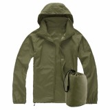 Compare Prices For Xs 3Xl Men Women Ladies Waterproof Windproof Jacket Outdoor Bicycle Sports Rain Coat Army Green