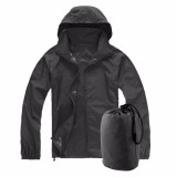 How To Buy Xs 3Xl Men Women Ladies Waterproof Windproof Jacket Outdoor Bicycle Sports Rain Coat Black
