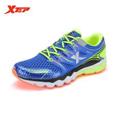 Brand New Xtep Brand 2016 Summer Breathable Men S Sports Running Shoes Air Mesh Sneakers Mens Trainers Outdoor Athletic Shoes Blue Green