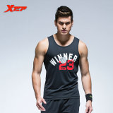 Sale Xtep Brand Men S Breathable Summer Cotton Vest O Neck Fashion Sporting Tops Tee High Quality Athletic Tennis Gym Tennis Vest Black Xtep Cheap