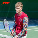 Xtep Brand Men S Fashion College Long Sleeve Sport Jacket Mens Autumn Cotton Slim Fit Casual Baseball Jackets And Coats Red Cheap