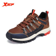 Price Xtep Men Profession Cross Country Mountain Breathable Climbing Shoes Outdoor Walking Shoes Traveling Senakers Reddish Brown Online Singapore