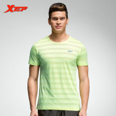 Top Rated Xtep Men Running T Shirts Breathable Workout Fitness Shirts Green