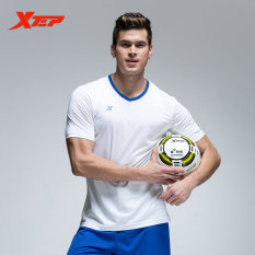 How To Buy Xtep Men S Breathable Quick Dry Soccer Suits Training Football Shirt Short White