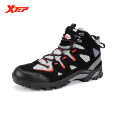Sale Xtep Original Men S Outdoor Hiking Shoes Boots Trekking Mountain Shoes Autumn Winter Athletic Sports Rubber Sneakers Black Red Xtep On Singapore