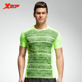 Xtep Running Shirts For Men Athletic Outfits Polyster Tops Fit Sports Shirts Quick Dry Men Shirts Sportswears Green Sale