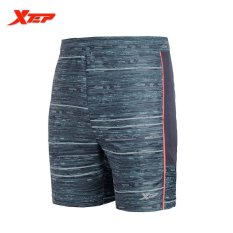 Discount Xtep Running Sports Shorts For Men Workout Training Soccer Shorts Black Orange Xtep