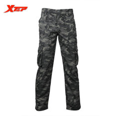 Xtep Winter Men Outdoor Camping Pants Climbing Sportwear Long Trousers Quick Dry Travel Camouflage Military Pants Grey Promo Code
