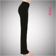 Discount Yan Wang Square Dance Clothing Autumn Dress Sections Pants Square Dance Pants Women Dance Pants Latin Dance Pants Yoga Pants Pure Black Pants Yan Wang On China