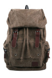 Promo Yazilind Leather Backpack Brown